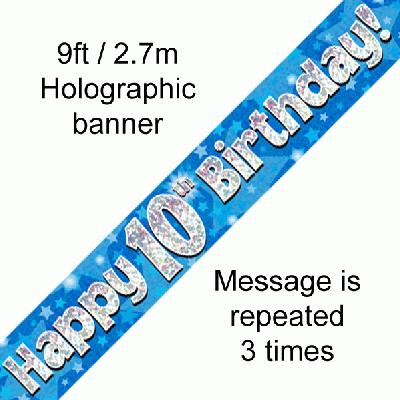 10th Birthday Blue Banner