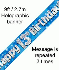 13th Birthday Blue Banner