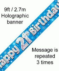 21st Birthday Blue Banner