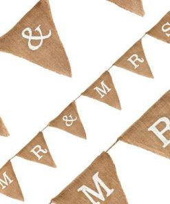 Natural Hessian Bunting Mr & Mrs