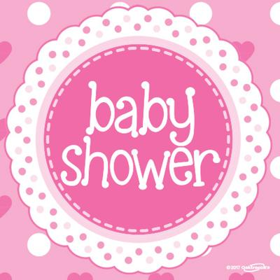 Baby Shower Pink Napkins