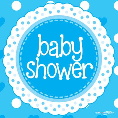 Baby Shower Blue Napkins
