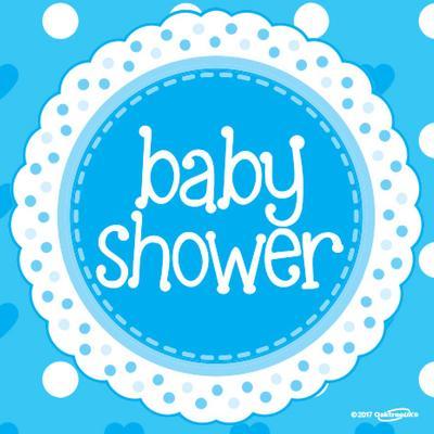 Baby Shower Blue Napkins