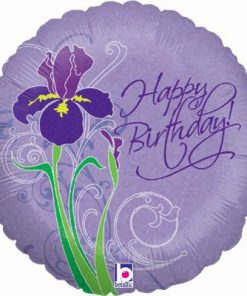 "18"" Spring Iris Birthday Holographic Foil"