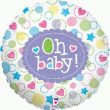 """18"""" Baby Star Shower Holographic Foil"""