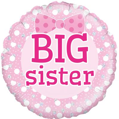 "18"" Big Sister Holographic Foil Balloon"