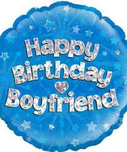 "18"" Happy Birthday Boyfriend Foil"