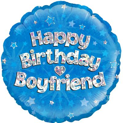 "18"" Happy Birthday Boyfriend Foil"