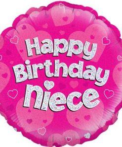 "18"" Happy Birthday Niece Holographic Foil Balloon"