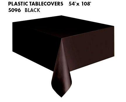 Oblong Tablecloth - Midnight Black