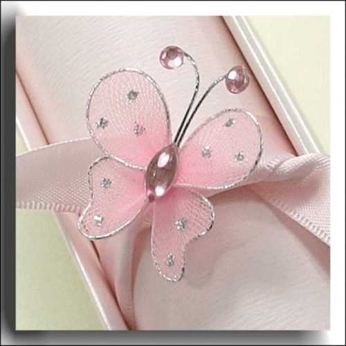 Wired Sheer Pink Butterfly