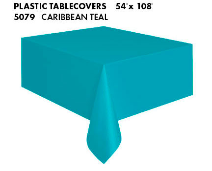 Oblong Tablecloth - Caribbean Teal