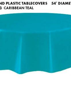 Round Tablecloth - Caribbean Teal