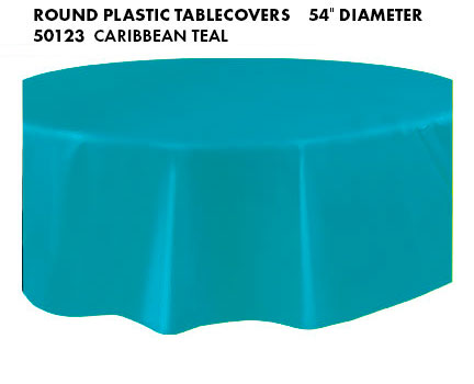 Round Tablecloth - Caribbean Teal