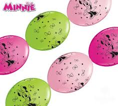 12 Inch Quick Links & Party Banner Balloons - Minnie Mouse