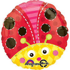 "17"" Cute Lady Bug Foil Balloon"