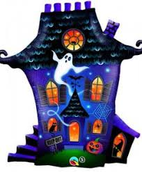 "31"" Shape Ghostly Haunted House Foil Balloon"