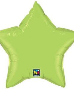 Solid Colour Lime Green Star