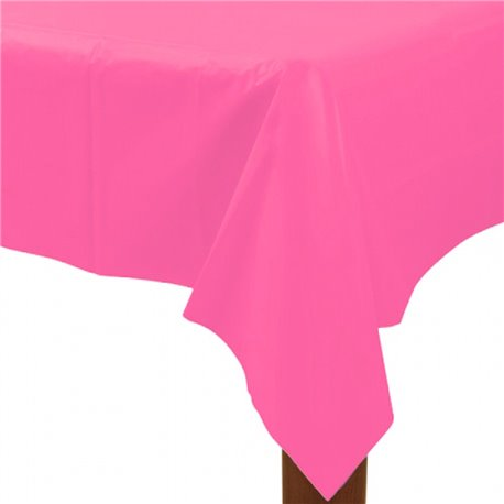 Table Cover Plastic Oblong Magenta
