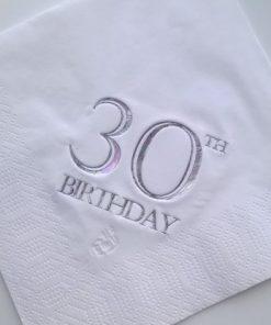 30th Birthday Luncheon Napkins