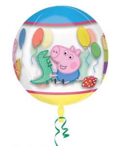 "15"" Peppa Pig Clear Orbz Foil"