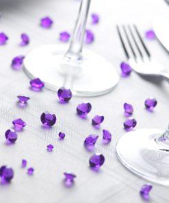 Purple Table Crystals