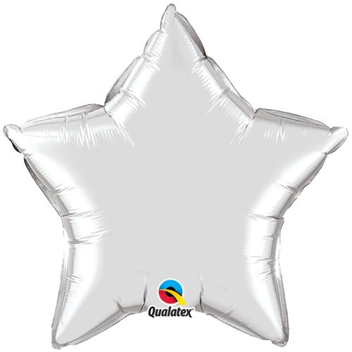 36 inch Silver Star Plain foil