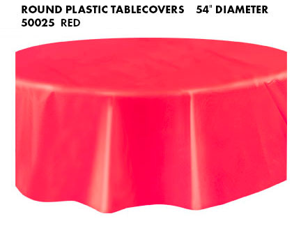 Round Tablecloth - Red