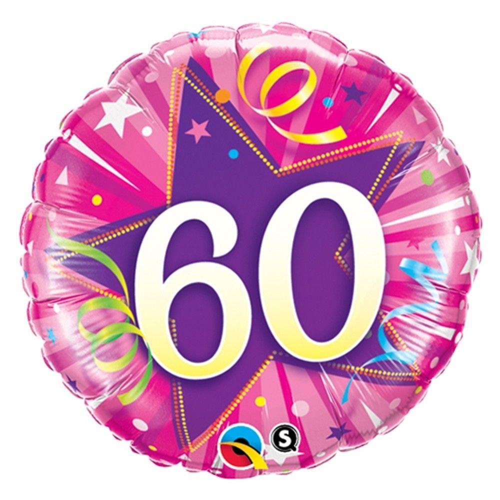 "18"" 60 Shining Star Hot Pink Foil"