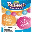 12 Inch Quick Links & Party Banner Balloons - Happy Birthday