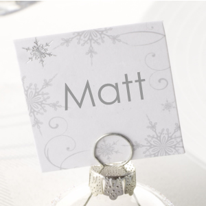 Shimmering Snowflake Place Cards