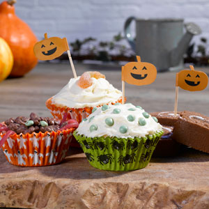 Happy Halloween Cupcake Cases & Picks