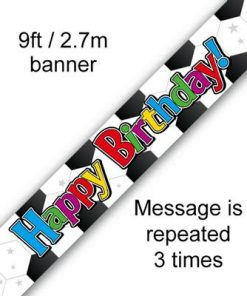 Football Birthday Banner