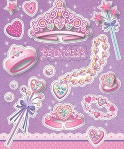 Birthday Princess Party Sticker Sheets