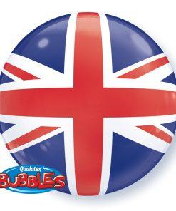"22"" Birthday Blue Starburst Sparkle Single Bubble"