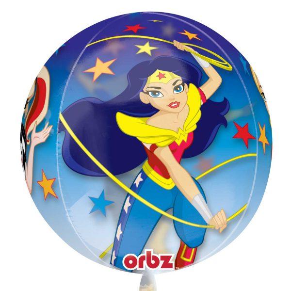 "15"" DC Super Hero Girls Orbz Clear Foil"