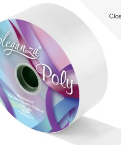 Eleganza 50mm Poly Ribbon White
