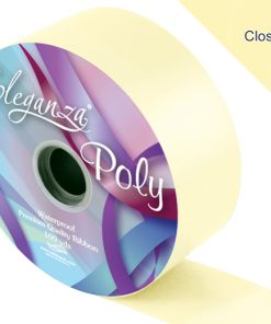 Eleganza 50mm Poly Ribbon Cream