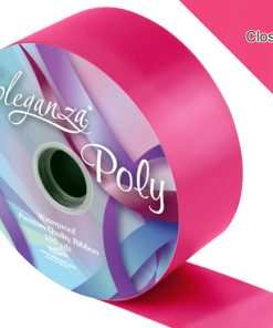 Eleganza 50mm Poly Ribbon Deep Cerise