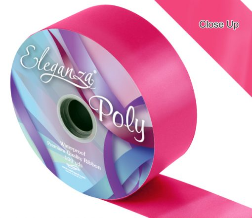 Eleganza 50mm Poly Ribbon Deep Cerise