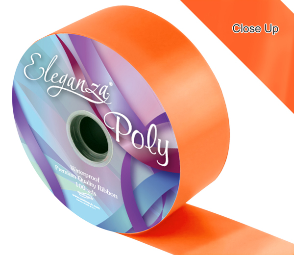 Eleganza 50mm Poly Ribbon Orange