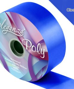 Eleganza 50mm Poly Ribbon Royal Blue
