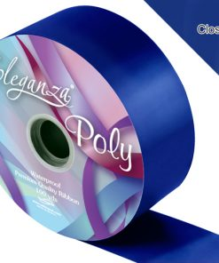 Eleganza 50mm Poly Ribbon Navy Blue