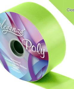 Eleganza 50mm Poly Ribbon Lime Green