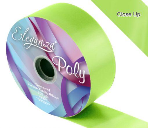 Eleganza 50mm Poly Ribbon Lime Green