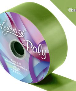 Eleganza 50mm Poly Ribbon Pistachio Green