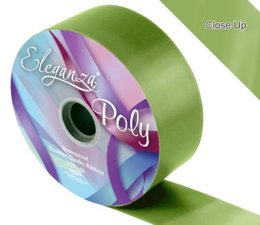 Eleganza 50mm Poly Ribbon Pistachio Green