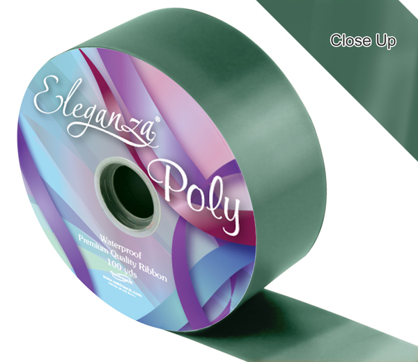 Eleganza 50mm Poly Ribbon Green