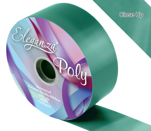 Eleganza 50mm Poly Ribbon Emerald Green