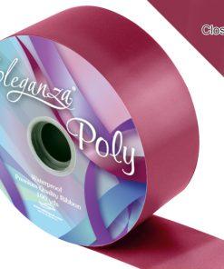 Eleganza 50mm Poly Ribbon Burgundy